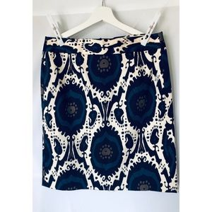 J. Crew Stretch Short Print Skirt with back zipper